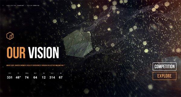 Magic Leap in Showcase of 创意漂亮的单页网站 - by 设计达人网
