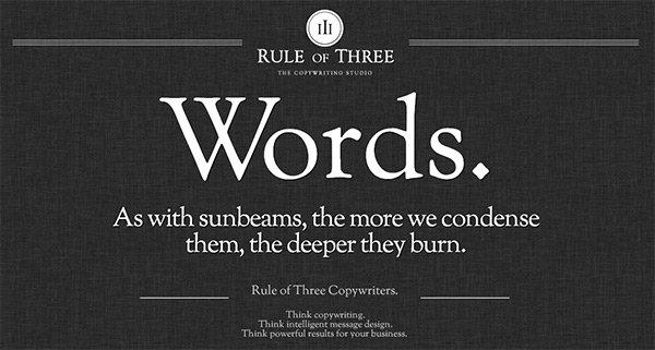 Rule of Three in Showcase of 创意漂亮的单页网站 - by 设计达人网