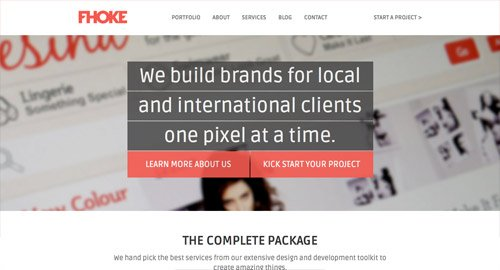 水平条纹式布局的网页设计