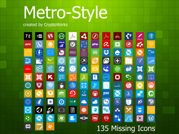 windows 8 Metro ui icon 图标素材下载 - 设计达人