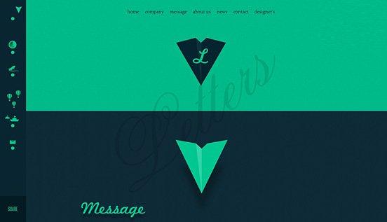 全屏背景的网页设计欣赏 - 设计达人