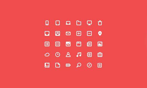 扁平化图标与UI KIT设计素材-4