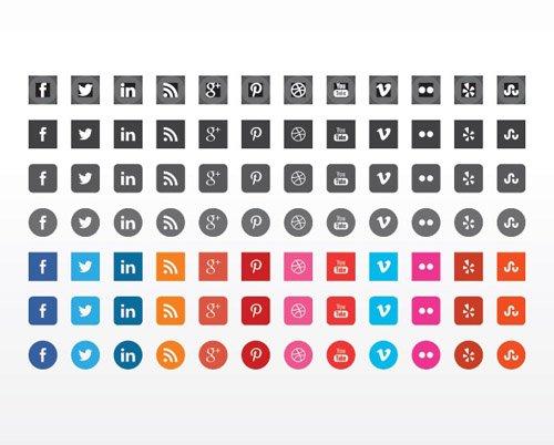 扁平化图标与UI KIT设计素材-22