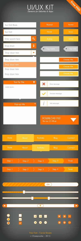 扁平化图标与UI KIT设计素材-24