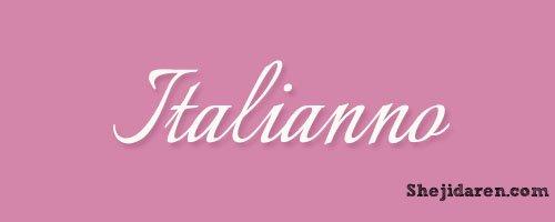 设计达人网 - 手写英文字体Calligraphy-Italianno
