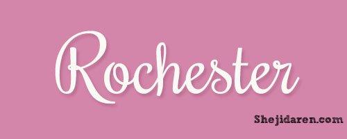 设计达人网 - 手写英文字体Calligraphy-Rochester