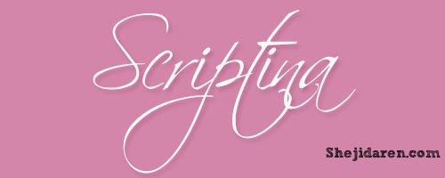 设计达人网 - 手写英文字体Calligraphy-Scriptina