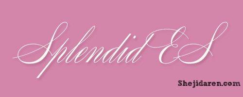 手写英文字体Calligraphy-SplendidES