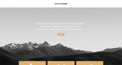 网页设计欣赏Kyle Thacker