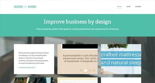 网页设计欣赏Work by Mark