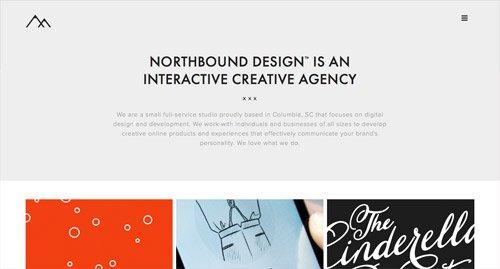 网页设计欣赏Northbound Design