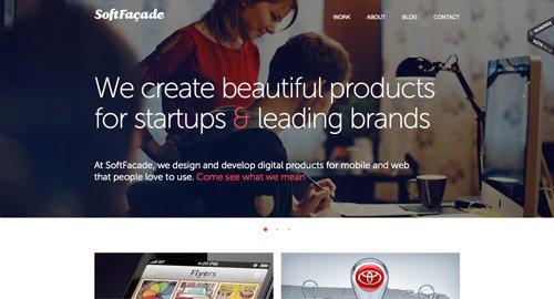 网页设计欣赏SoftFacade