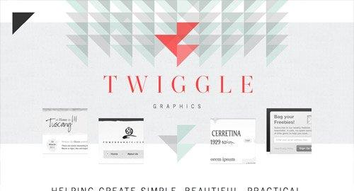 网页设计欣赏Twiggle Graphics