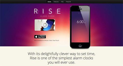 网页设计欣赏Rise
