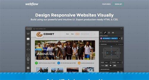 网页设计欣赏Webflow