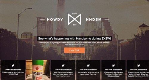 网页设计欣赏Handsome