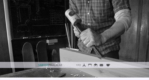 网页设计欣赏Sawyer Maker Lab