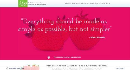 网页设计欣赏The 20/20 Group Cairns