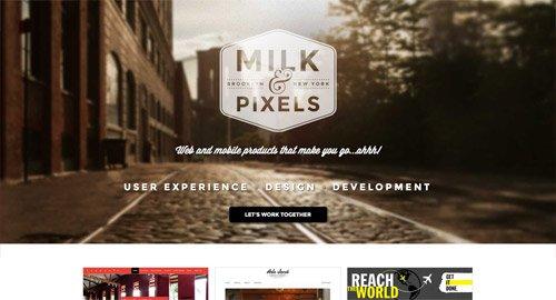 网页设计欣赏Milk & Pixels