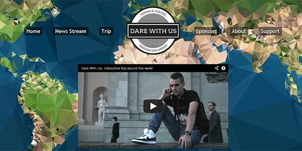 Dare with us 2013 多边形网页设计Polygon web design
