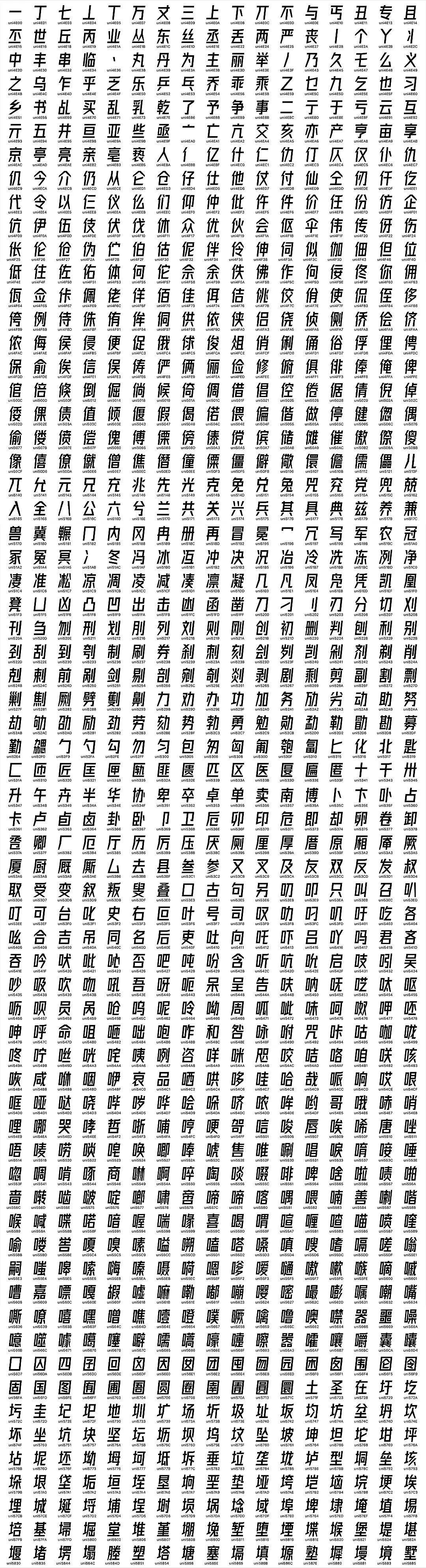 字体圈欣意冠黑体 瘦高倾斜可商用字体免费下载